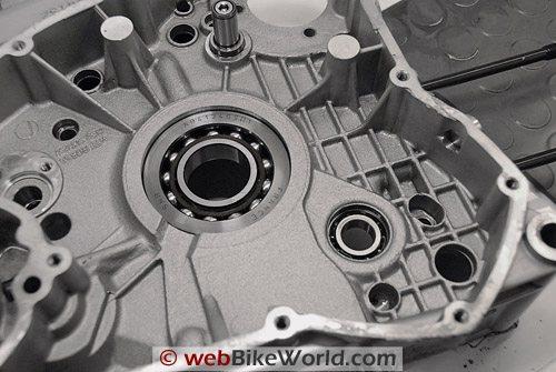 Inside one half of a Ducati engine case.
