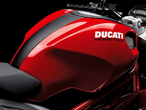 "Ducati Monster 696 - Fuel Tank Uses Replaceable Colored ""Skins"""