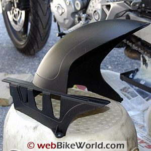 Monster 620 mud guard, Ducati part number 56510301A - Left side