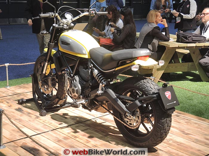 Ducati Scrambler Icon Rear View