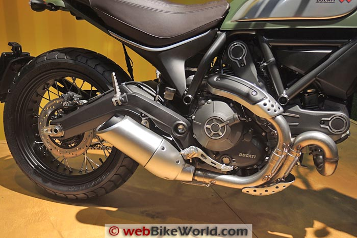 Ducati Scrambler Urban Enduro Engine