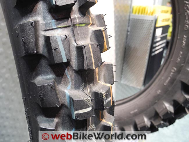 Dunlop D606 Front Tire Close-up