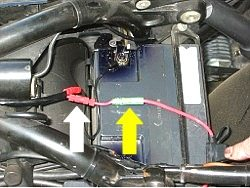 Motorcycle headlight relay
