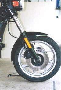 Motorcycle fork gaiters
