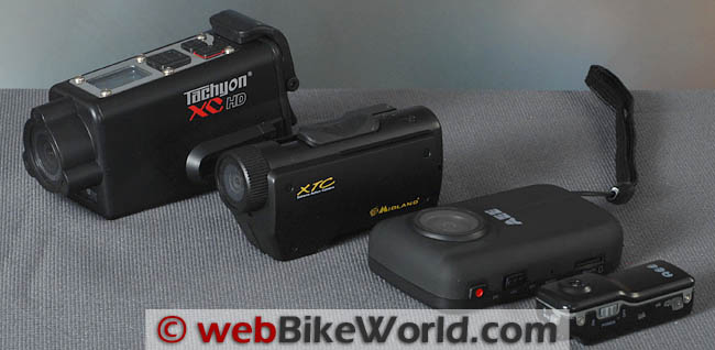 Four Motorcycle Video Cameras