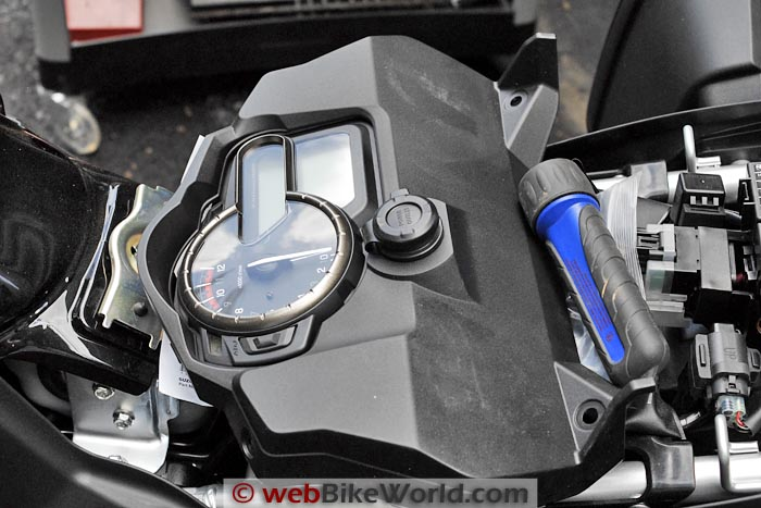 Front of Suzuki V-Strom 1000 ABS Instrument Panel