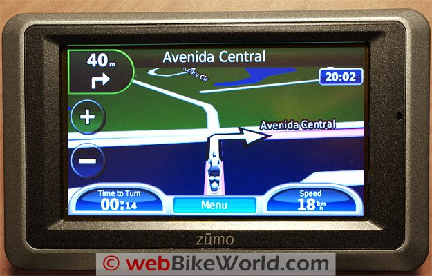 Garmin zumo 660 Route Screen