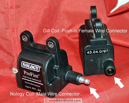 Comparison of Nology and Gill Motorcycle Ignition Coils