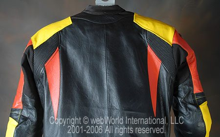 GiMoto Custom Motorcycle Leathers - Upper Back