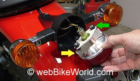 Removing the GT 1000 Brake Light Housing
