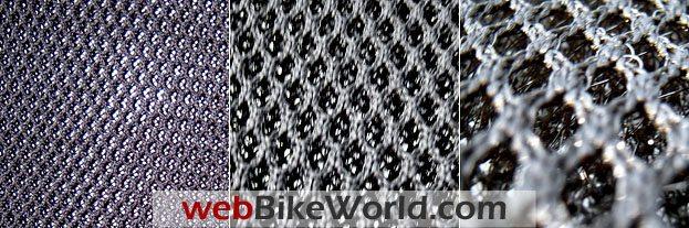 Mesh Comparison: KonTour (L); Ducati Comfort (C); Corbin (R).
