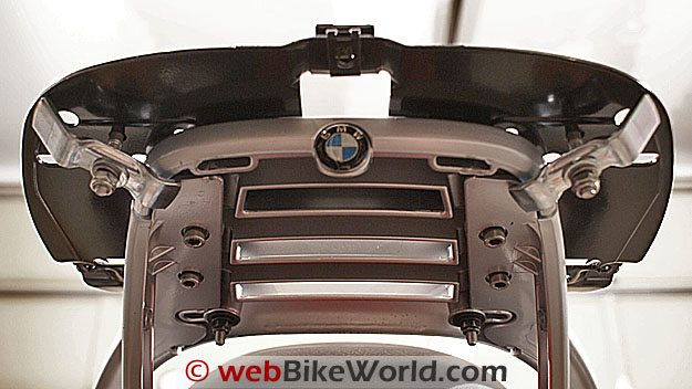 SHAD Top Case - Underside view of the mounting plate, BMW R1100R.