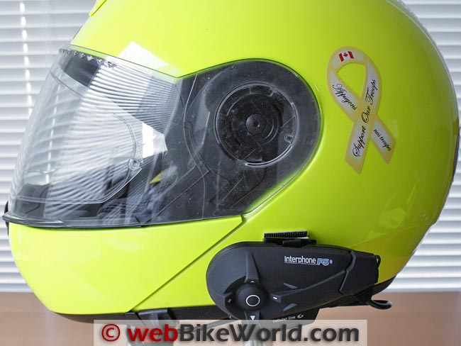 Interphone F5 on Schuberth C3