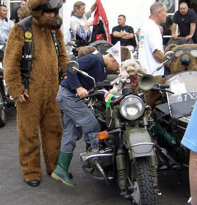 Ivan Crazy Bob and his Ural sidecar outfit