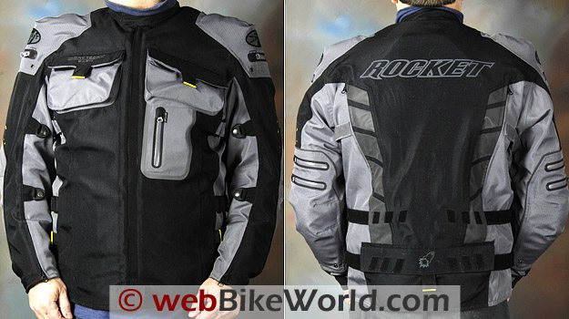 Joe Rocket Dry Tech Nano Jacket - Front and Rear Views