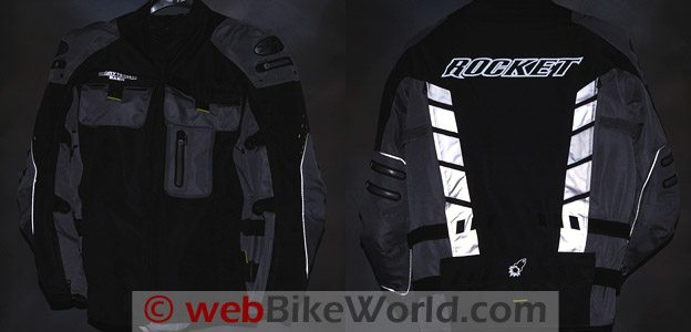 Joe Rocket Dry Tech Nano Jacket Reflectivity