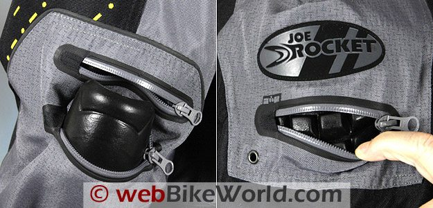 Joe Rocket Dry Tech Nano Jacket Removable Armor
