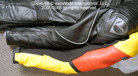 Comparison of GiMoto Custom Motorcycle Leathers and the Lookwell Viper Leather Suit - Arms and Shoulders
