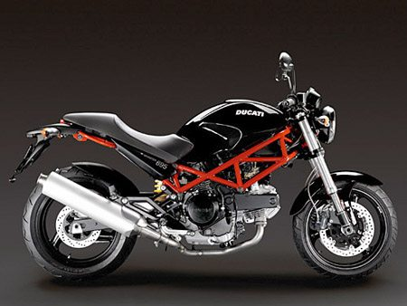 Ducati Monster 695 - Black With Red Frame