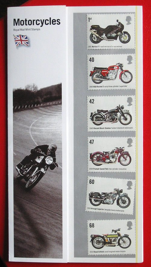 British Motorcycle Stamps - 2005