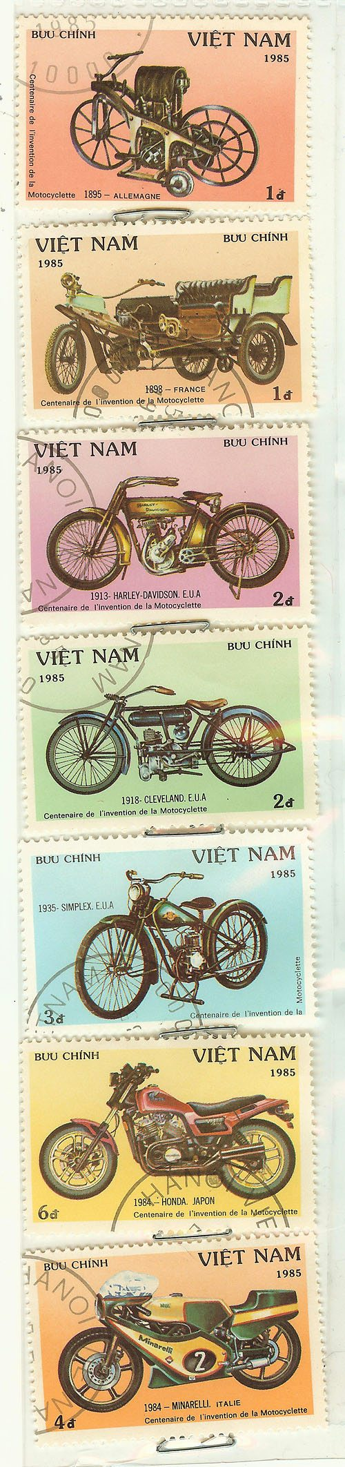 Motorcycle Stamps - Viet Nam