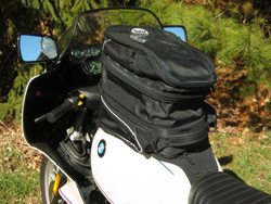 FAMSA motorcycle tank bag, Model 246, fully extended.