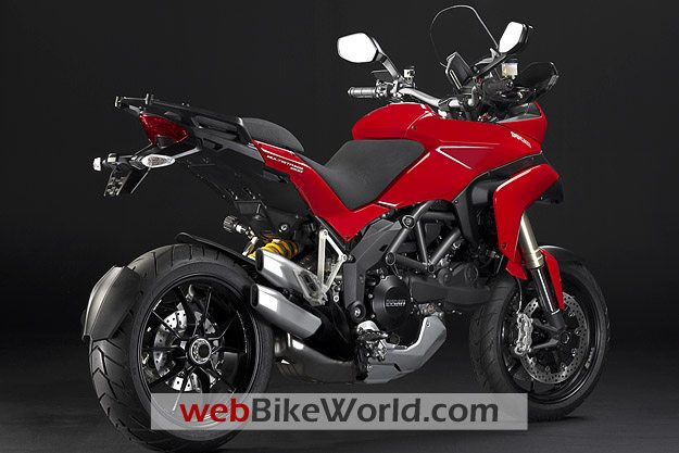 Ducati Multistrada 1200 - Red, Rear View