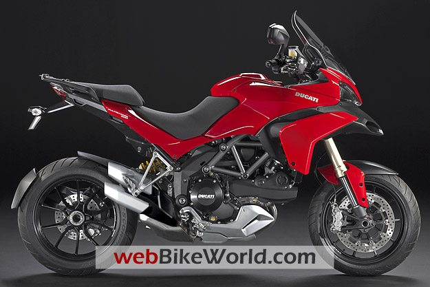 Ducati Multistrada 1200 - Red, Right Side View
