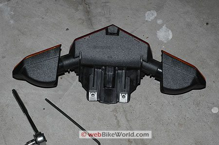 Ducati Multistrada brake and tail light assembly