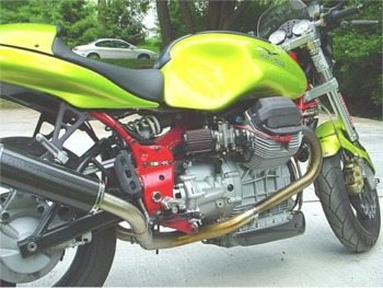 Moto Guzzi V11 Sport Custom, side view
