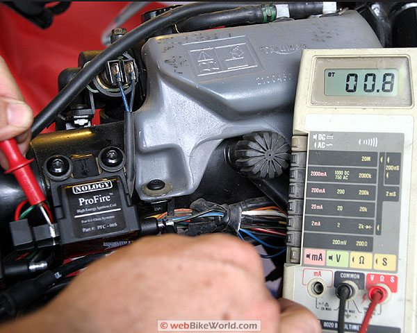 Reading An Ohmmeter : Motorcycle ignition coils webbikeworld