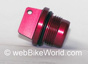 Ducati Engine Oil Filler Plug - Red