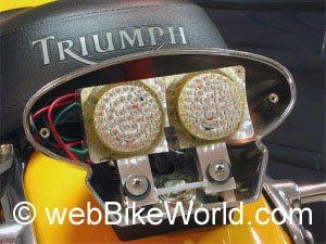 LED brake light bulbs - Triumph motorcycle