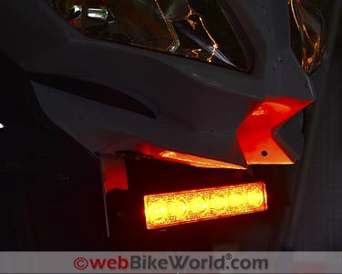 Kawell Amber LED Light Bar Review - webBikeWorld on