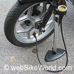 Motorcycle Tire Air Pumps Reviewed Webbikeworld