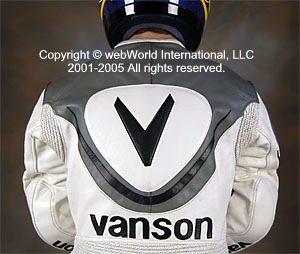 Vanson Leathers - Volante suit, rear view