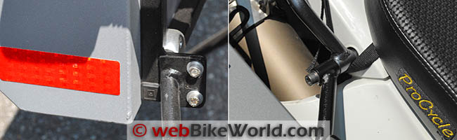 Rear Mounting Points for Pannier Rack