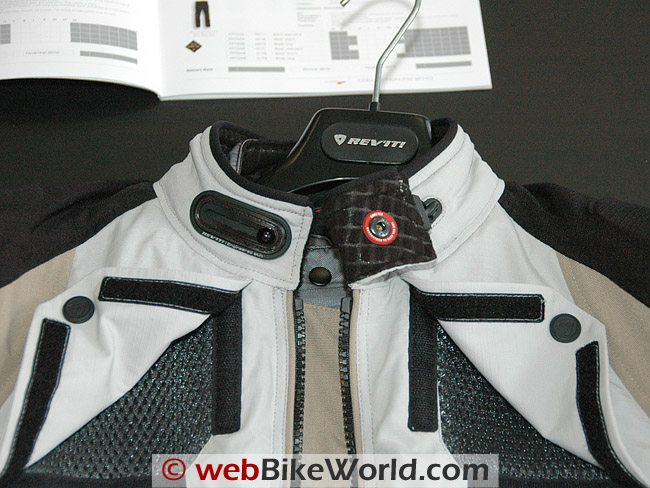Rev'it Defender GTX Jacket - Collar and Vents
