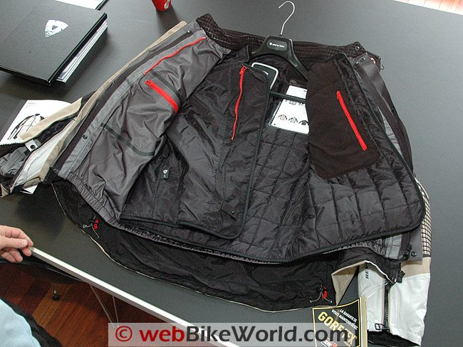 Rev'it Defender GTX Jacket - Removable liners