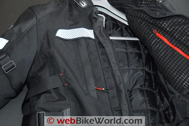 Rev'it Legacy GTX Jacket - Chest Vent and Liner