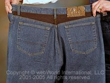 Joe Rocket Steel jeans, rear view