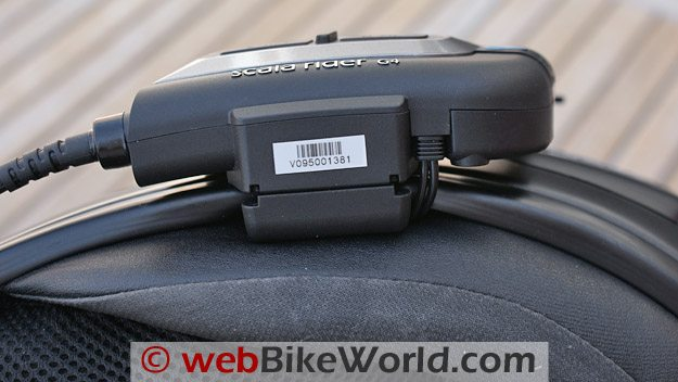 Cardo Scala Rider G4 Intercom - Bottom view close-up.