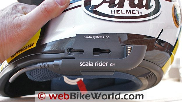 Cardo Scala Rider G4 Intercom mounting bracket.