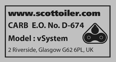 Scottoiler CARB Sticker