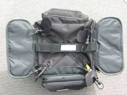 Motorcycle tail bag - seat bag - top view