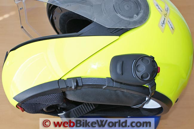 Sena SMH5 Intercom on SCHUBERTH C3