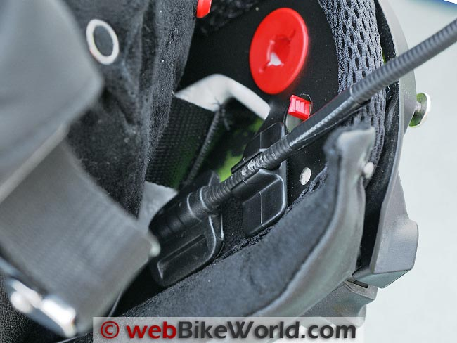 Sena SMH5 Microphone on the SCHUBERTH C3