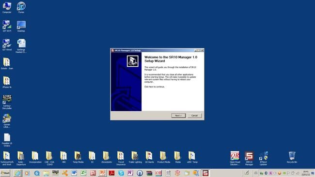 Sena SR10 Manager Firmware Installation Process