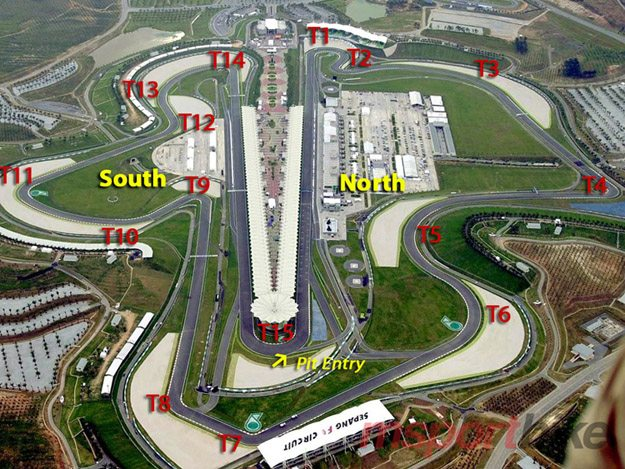 Aerial View of Sepang Circuit