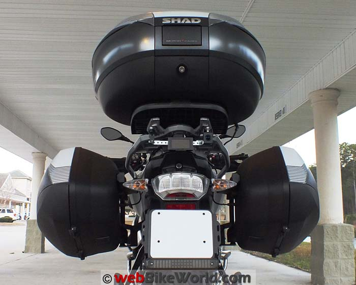 SHAD SH36 for BMW S1000XR Rear View